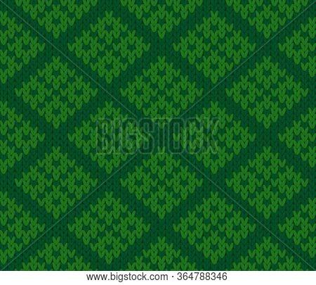 Vector Knitting Seamless Background Of Geometric Pattern