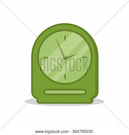 Types Of Alarm Clocks, Timers And Clocks Set Isolated On White Background. Cartoon Alarm Clock Ringi