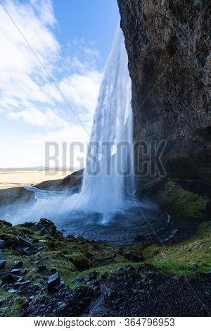 One Of The Most Famous Waterfalls In Iceland Called Seljalandsfoss Is Located In The Golden Circle A