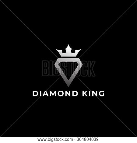 Diamond King Logo Design - Luxury Diamond King Logo Template