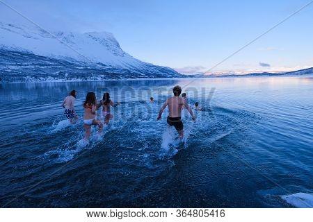 Polar Plunging In The Beautiful Norwegian Fjords