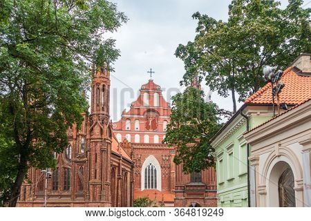 VILNIUS, LITHUANIA - September 2, 2017: Catholic church of All Saints in Vilnius, Lithuanian