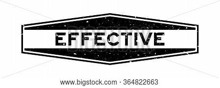 Grunge Black Effective Word Hexagon Rubber Seal Stamp On White Background
