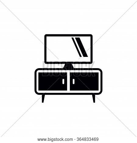 Tv Bench Icon Vector Icon On White Background. Tv Bench Icon Modern Icon For Graphic And Web Design.