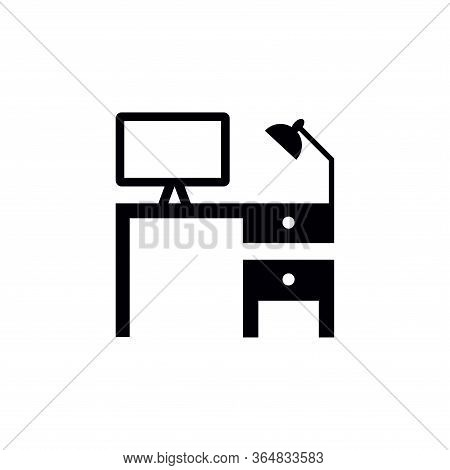 Desk Icon Vector Icon On White Background. Desk Icon Modern Icon For Graphic And Web Design. Simple