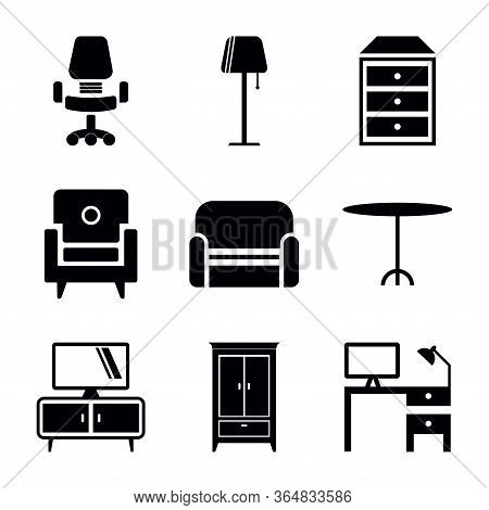 Furniture Icon Collection On White Background. Furniture Icon Modern Icon For Graphic And Web Design