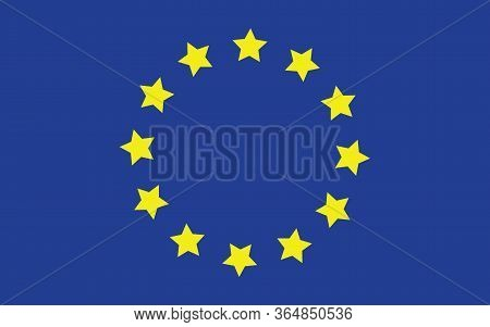 Europe Flag Vector Graphic. Rectangle European Flag Illustration. Europe Country Flag Is A Symbol Of