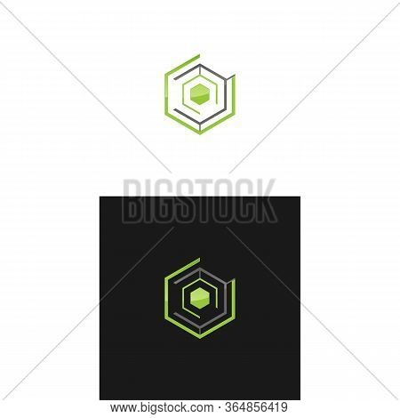 Polygonal Hexagonal Icon In Two Color Design Style. Polygonal Hexagonal Vector Icon Modern And Trend