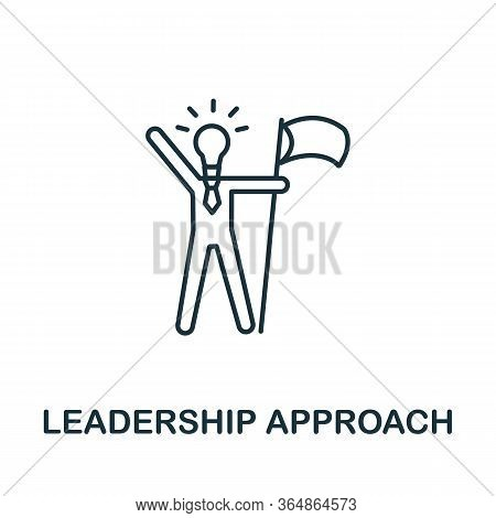 Leadership Approach Icon From Global Business Collection. Simple Line Leadership Approach Icon For T