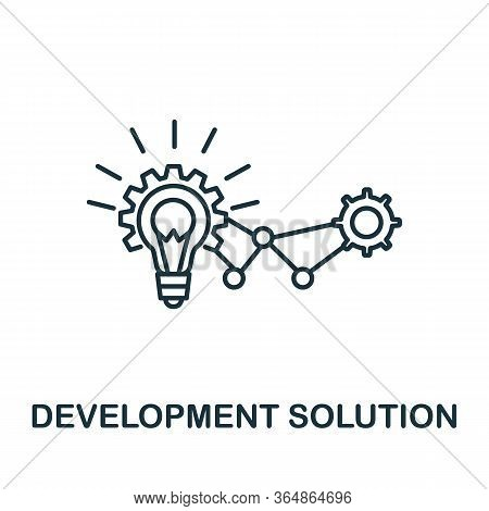 Development Solution Icon From Global Business Collection. Simple Line Development Solution Icon For