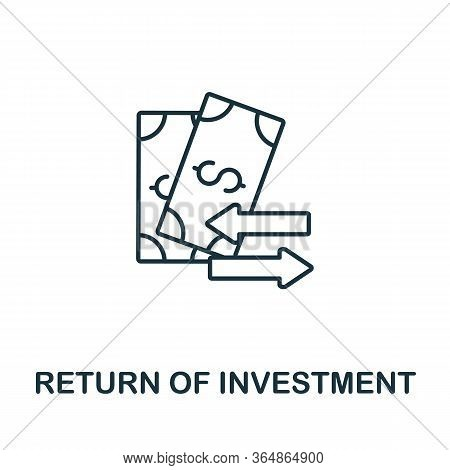 Return Of Investment Icon From Global Business Collection. Simple Line Return Of Investment Icon For