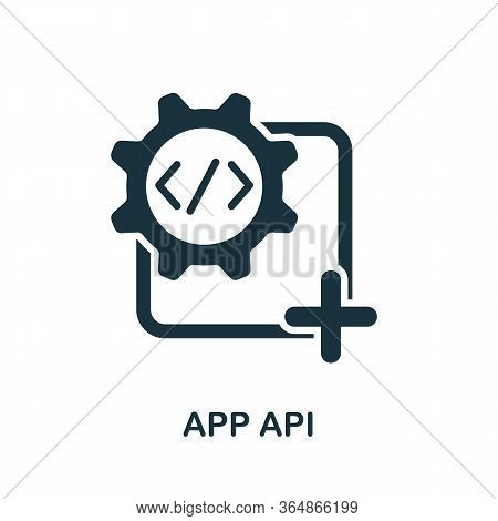 App Api Icon From Mobile App Development Collection. Simple Line App Api Icon For Templates, Web Des