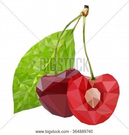 Cherry, Vector Illustration.cherries Fruit Cherry Red Fruit