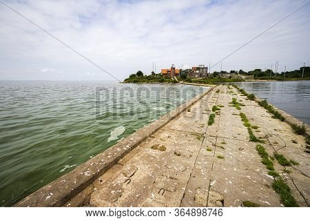 Vente Cape In Lithuania. View Froma Pier In The Sea.