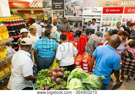African Customers Shopping At Local Pick N Pay Supermarket Grocery Store