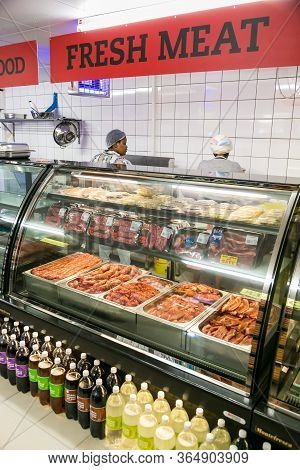 Fully Stocked Butchery And Deli Section At Local Pick N Pay Grocery Store