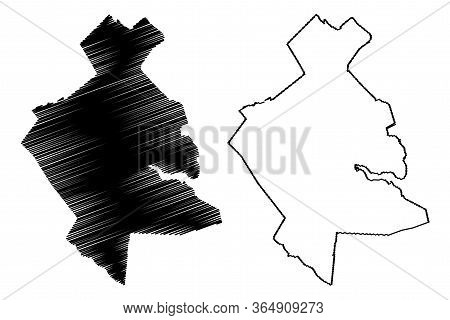 Subotica City (republic Of Serbia, Vojvodina District) Map Vector Illustration, Scribble Sketch City