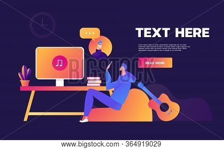 Always Stay Connected Using Video Call On Laptop - Love An Relationship Web Page Header Template Ill