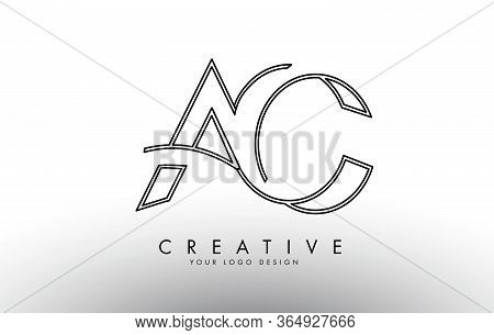 Ac A C Letters Logo With A Simple And Elegant Monogram Design. Creative Ac Letter Icon With Black Li