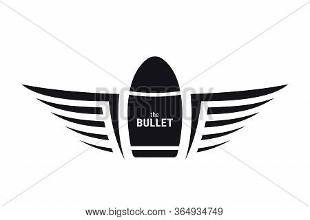 Winged Bullet. Military Symbol. Army Badge. Tattoo Or Logo