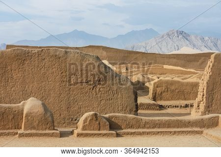 Archaeological Ruins Of Chan Chan, A Pre-columbian Adobe City, Built On The Northern Coast Of Peru B