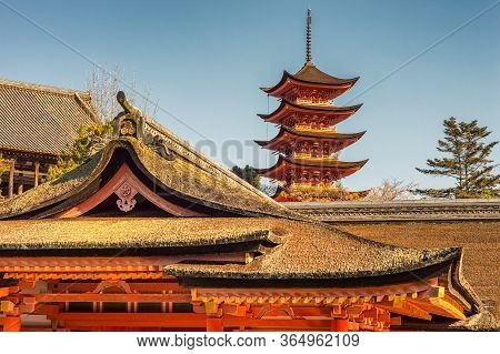 Itsukushima Shinto Shrine On The Itsukushima, Miyajima Island, In The City Of Hatsukaichi In Hiroshi