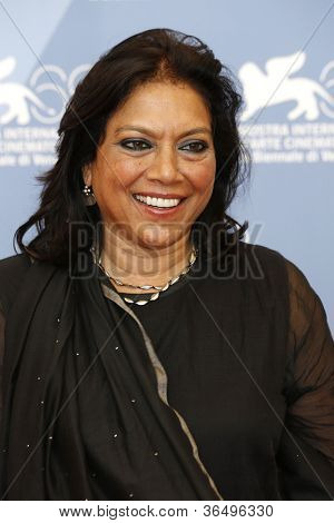 VENICE - AUG 28: Mira Nair at the 69th International Venice Film Festival for 'The Reluctant Fundamentalist' on August 28, 2012 in Venice, Italy