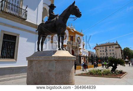Seville, Spain - May 01, 2019 : La Augusta Senora Condesa De Barcelona Mother Of Juan Carlos I . The