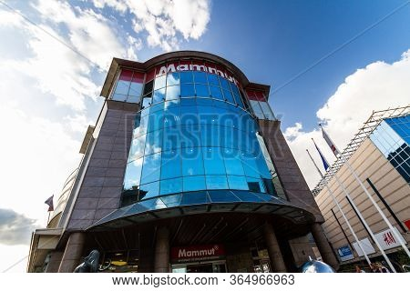 Editorial, Glass Front Of Mammut Shopping Mall, Kalman Ter Square,  Budapest Hungary