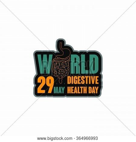 World Digestive Health Day. Celebrate On 29 May. Typography For Digestive Health Day. Vector Illustr