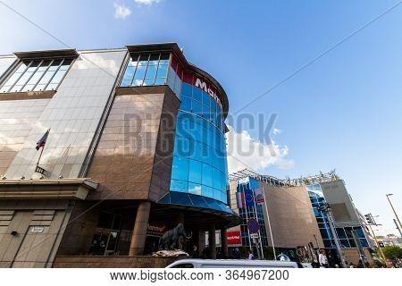 Budapest, Hungary - Glass Front Of Mammut Shopping Mall, Kalman Ter Square,  Budapest Hungary, On Se