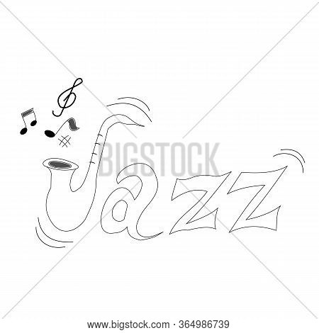 Hand-drawn Letters For Word Jazz For International Day Of Jazz Music