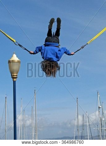 San Francisco, Ca - November 17: Frequent Flyers, A Fun-filled Bungee Trampoline Pier 39 2012