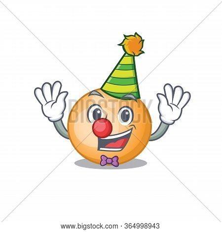 Cartoon Character Design Concept Of Cute Clown Staphylocuccus Aureus