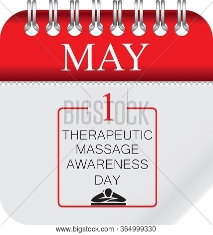 Calendar With Perforation For Changing Dates - May Therapeutic Massage Awareness Day