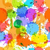 Color ink blots seamless background poster