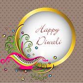 Beautiful greeting card for Hindu community festival Diwali or Deepawali in India. EPS 10. poster