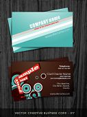vector creative abstract style business card template poster