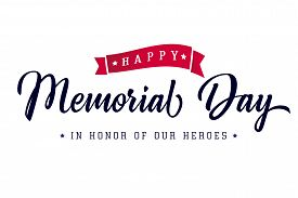 Happy Memorial Day Lettering Typography Poster. Memorial Day Usa  Background, Vector Illustration