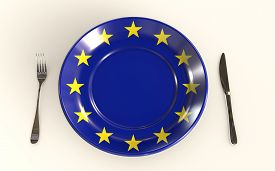 European Union Food Industry Standards 3d Rendered Concept Isolated On White Background 3d Rendering
