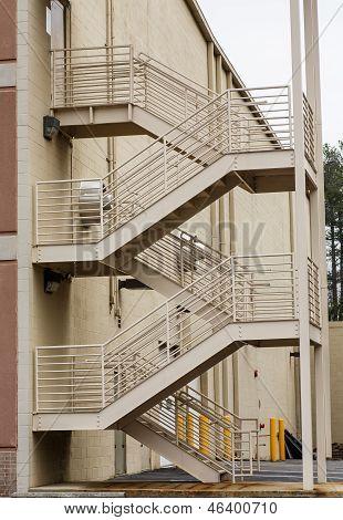Beige Metal Stairs
