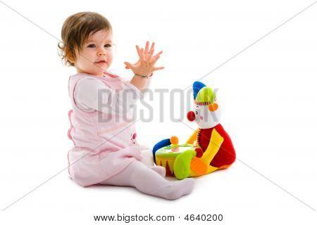 Baby spielen isoliert