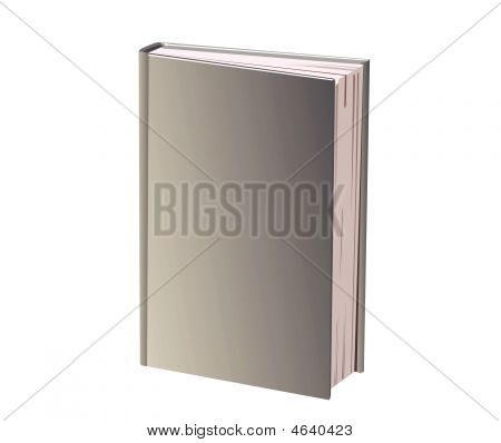 There is a book with grey cover poster