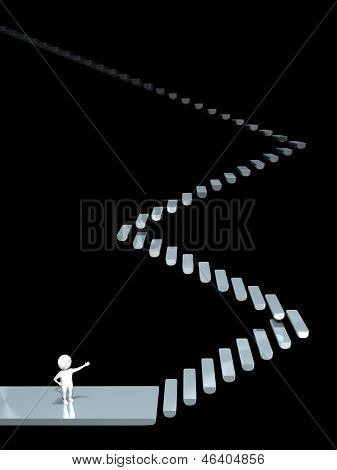 3D Man - Long Stairway - Obscurity