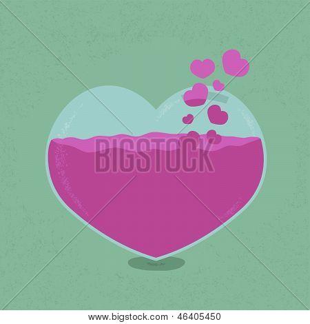 Love bank - Saving heart , eps10 vector format
