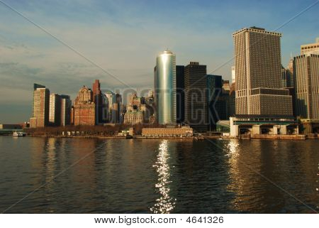 View Of Downtown Manhattan And Financial District