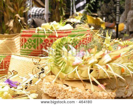 Baskets Of Food Offerings