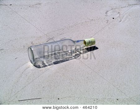 Bottle On The Sand