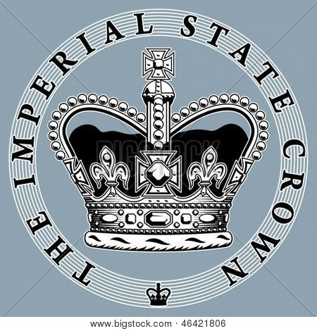 The imperial state crown. Vector format EPS 8, CMYK.