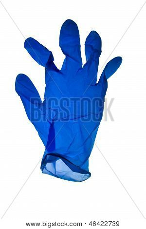 Blue Latex Glove